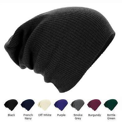 Mens Women Knitted Woolly Winter Oversized Slouch Beanie Skateboard Hat Cap M3
