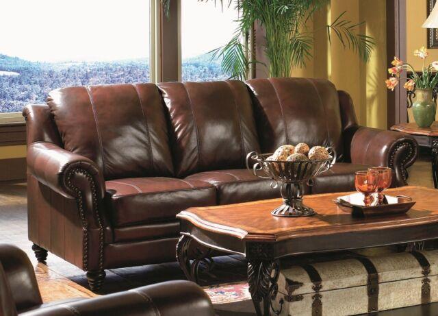 Lazzaro Leather Porta Plum Sofa For
