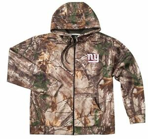 pretty nice 04d07 90c31 Details about NEW XL 5XL 4XL NFL RealTree New York Giants Mens Jacket Camo  Coat Hunting Hoodie
