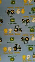 New, Springs Creative, Duck Duck Tractor, Blue, 43, 100% Cotton