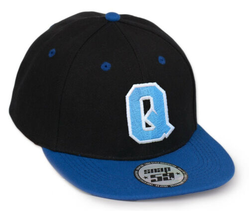 Casual Snap Back  Baseball Cap Caps adjustable Snap back blue letter  A-Z