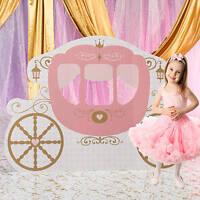 Princess Carriage Standee Girl Birthday Pink Provincial Theme