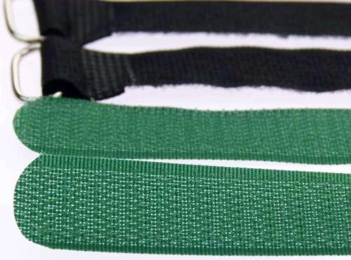 10 x Kabelklett Klettband 300 x 20 mm dunkel grün Klett Kabelbinder Klettbänder