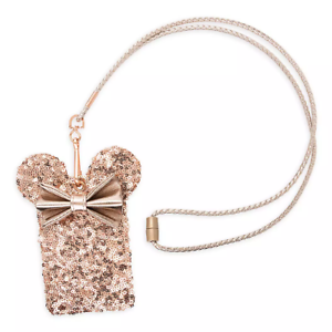 Disney-Parks-Loungefly-Briar-Rose-Gold-Minnie-Bow-Lanyard-ID-Holder-Pouch-NEW