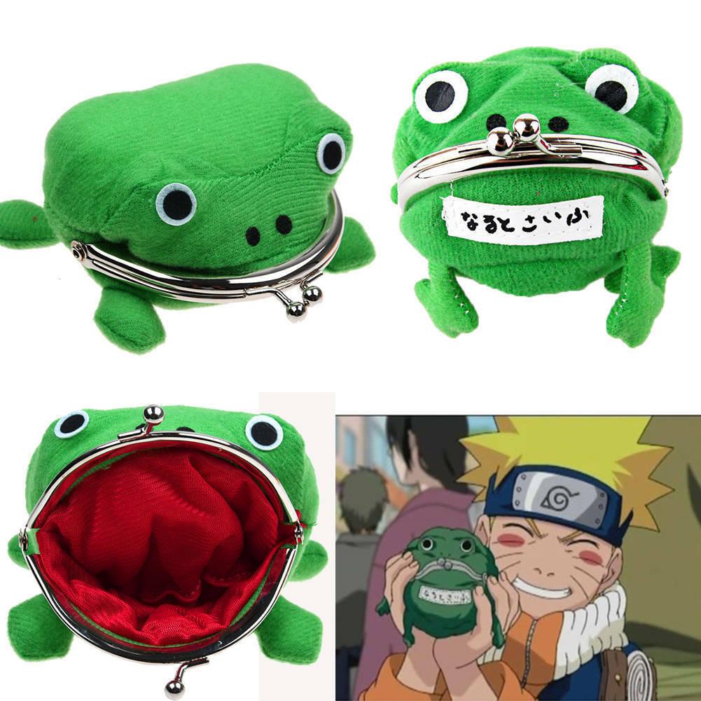 Naruto Frog Shape Uzumaki Wallet Coin Purse Green Cosplay Plush Cute Collect