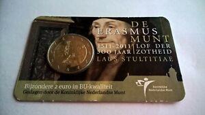 Nederland-2011-Coincard-2-Euro-Erasmus-BU-Stempelglanz