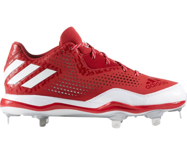 more photos ec3ae 40dbb Frequently bought together. adidas PowerAlley 4 Metal Baseball Cleats  Q16486 Red White Silver size 13 ...
