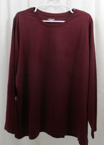 Women/'s Lands End L//S Camiseta Gola Careca 3X Relaxed Fit