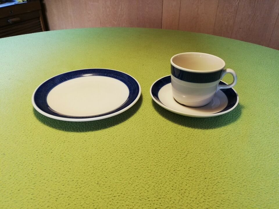 Porcelæn, Blå Koka kopper og tallerkener, Rørstrand