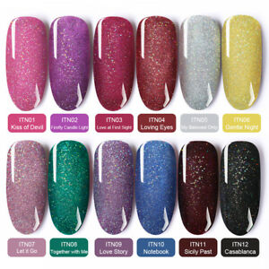 BORN-PRETTY-6ml-Holographicss-Glitter-Gel-Polish-Nail-Art-Soak-Off-UV-Gel