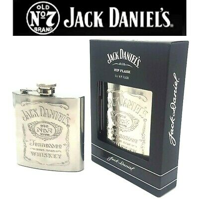Hip flask Jack Daniels Stainless Steel Whisky flask collectables 6oz
