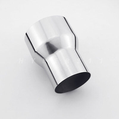 """3/"""" ID 76 mm to 4/"""" ID 102 mm exhaust reducer adapter pipe 304 stainless steel"""