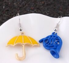 How I Met Your Mother Earrings Yellow Umbrella Blue French Horn TV Series