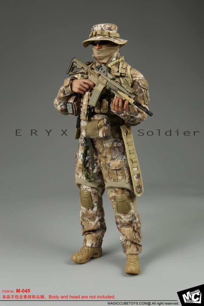 Juguete Cubo Mágico Eryx soldado Set 1 6 M-045