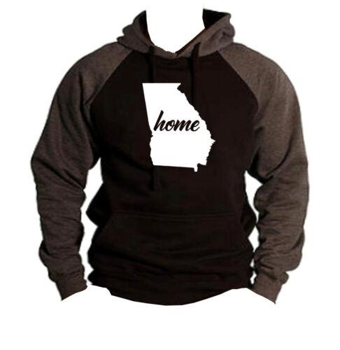 Hometown Hoodie Georgia State Homeland Map Home Raglan Black Pride Sweater V260 aOFRzqZx
