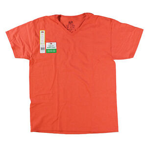 Fruit-of-the-Loom-Men-Eversoft-Short-Sleeve-V-Neck-T-Shirt-Hibiscus-Heather-3XL