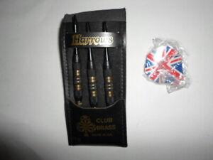 Harrows-Club-Brass-set-3-Darts-19g-original-package-UK-RARE