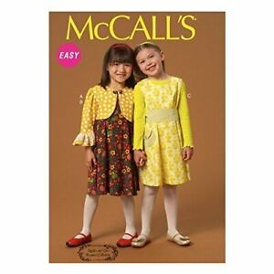 McCalls-Sewing-Patterns-7011-Child-Girls-Jacket-Dresses-Belt-Size-6-8-CL