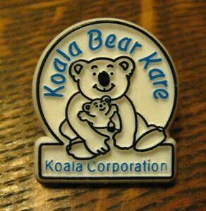 Koala-Bear-Kare-Lapel-Pin-Vintage-Baby-Changing-Stations-Corporation-Badge-Pin