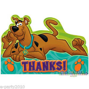 Scooby Doo Where Are You Thank You Cards 8 Birthday Party