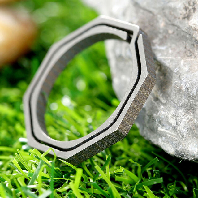 Titanium Alloy Carabiner Hanging Buckle Key Ring Quickdraw EDC Keychain  New SH