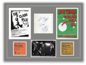 The-Clash-Autographs-Tickets-Concert-Posters-Memorabilia-Poster-UNFRAMED