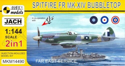 Mark I Models 1//144 SPITFIRE Mk.XIV BUBBLETOP Far East Service 2-in-1 Double Kit