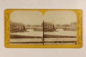 Francia Parigi Legno Da Boulogne Lac Foto Stereo Vintage Albumina c1870