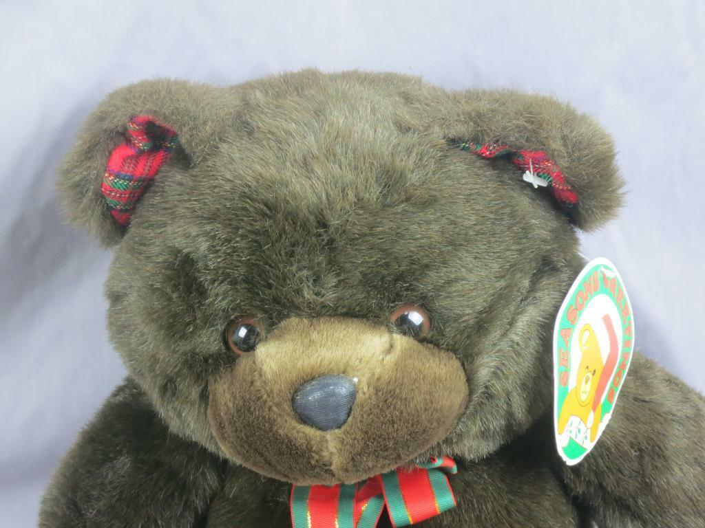 BIG NEW SEASONS GREETING CHOCOLATE BROWN TEDDY BEAR CHOSUN PLUSH CHRISTMAS TOY