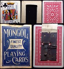 Rare Antique Magic Gimmick Deck Artifact Playing Cards Deck Mongol Box Scarce