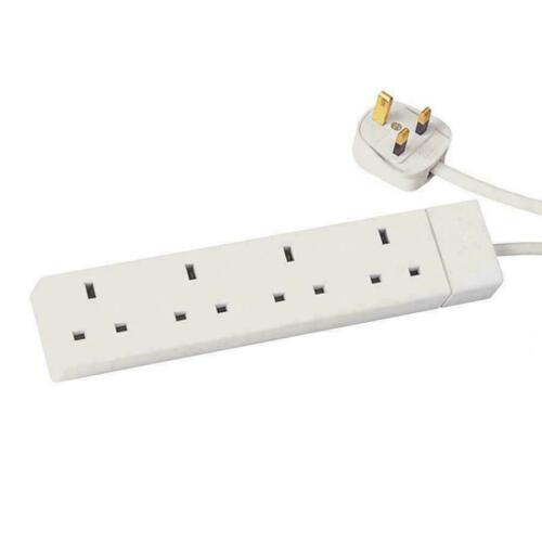 4 WAY 4 GANG EXTENSION LEAD EXTENTION LEAD 5 METER 4 SOCKETS//GANG 13A PLUG CE UK