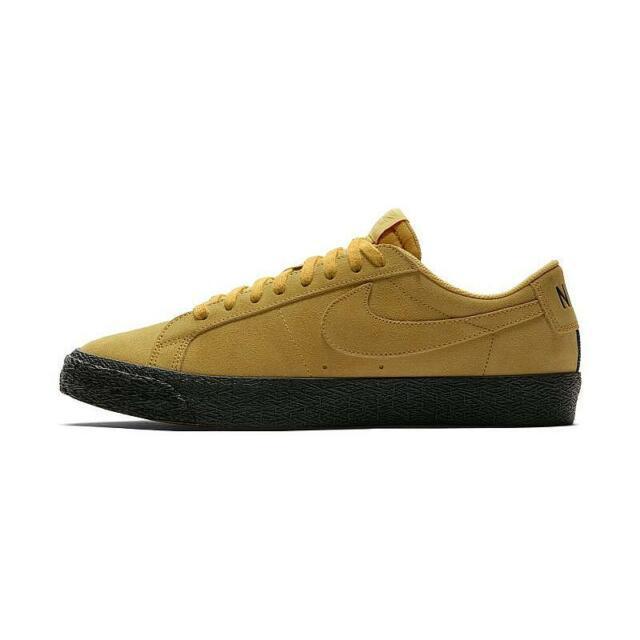 brand new b7fa3 18d9a Nike SB Zoom Blazer Low Yellow Ochre Black 864347-701 New Men's Shoes Multi  Size