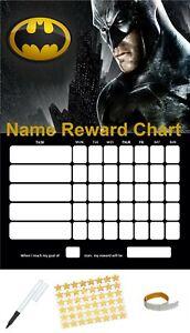 BATMAN-Personalizzato-Ricompensa-comportamento-grafico-Gratis-Penna-Adesivi-amp-Sticky-schede