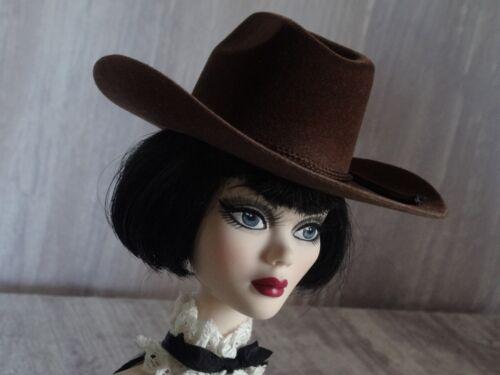 """Allfordoll STYLE COWBOY Brown HAT for 18.5/"""" Evangeline Ghastly Tonner BJD Dolls"""