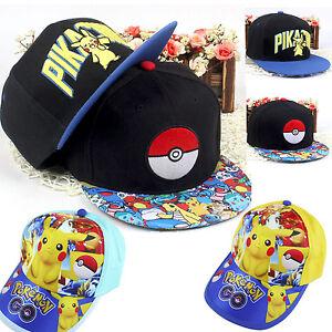 4bff9a8134a POKEMON Go Pikachu caps cap hat baseball unisex kids boys girls AU ...