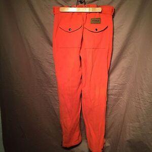 Rare Vermont Beagle Outdoor Wear Hunter Orange 100 Wool Mens 31 X