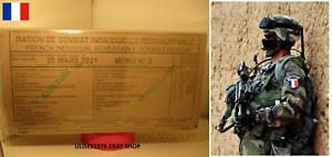 Mre de ración de Mre combate nuevo francés 24 horas. 3. fecha de vencimiento de menú 2021. CA 46d5b3