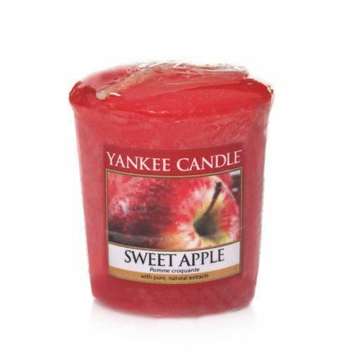 1 of 1 - Yankee Candle Votive Sampler Candle Highly Fragranced Sweet Apple Scent