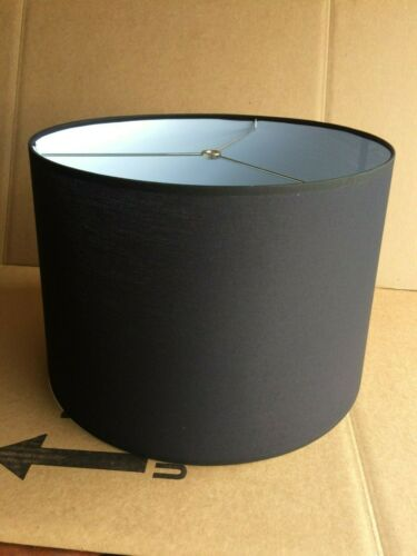 """Contemporary Style Fabric Drum Lamp shade 16/"""" wide Black color"""