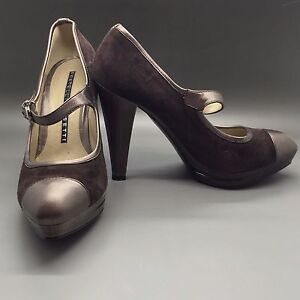 New-Fratelli-Rossetti-brown-suede-leather-heels-pumps-shoes-38-EU-8-US-Italy
