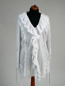 Rüschen Chalona weiß Größe Mit 1 Bluse Farbe qwTT7BWagZ