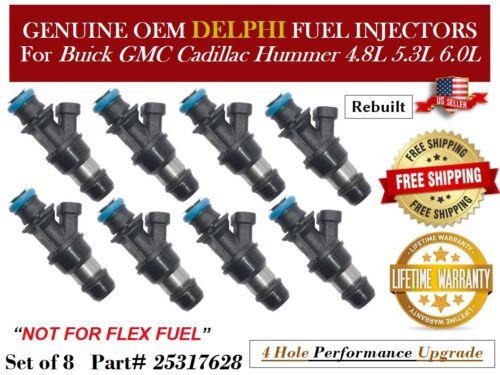 8 Fuel Injectors 4Hole OEM Delphi for Chevy Suburban 1500 5.3L 5.7L 6.0L V8