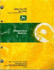 John Deere 1850 No Till Air Drill Operators Manual Ser No Ho1850x670101