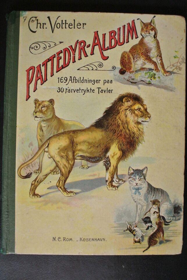 pattedyr- album, chr. votteler, emne: dyr