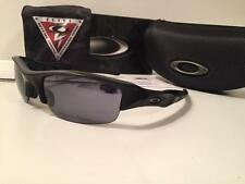 New Oakley Flak Jacket Standard Issue SI Military Sunglasses Matte Black/Grey