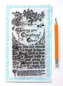 Clear stamps lot 4x7 wish christmas greeting saying vintage image is loading clear stamps lot 4 034 x7 034 wish m4hsunfo