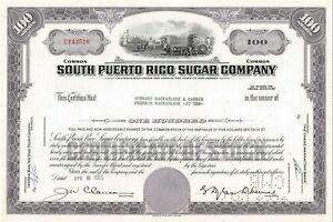 South-Puerto-Rico-Sugar-Company-100-Share-Common-Stock-Certificate