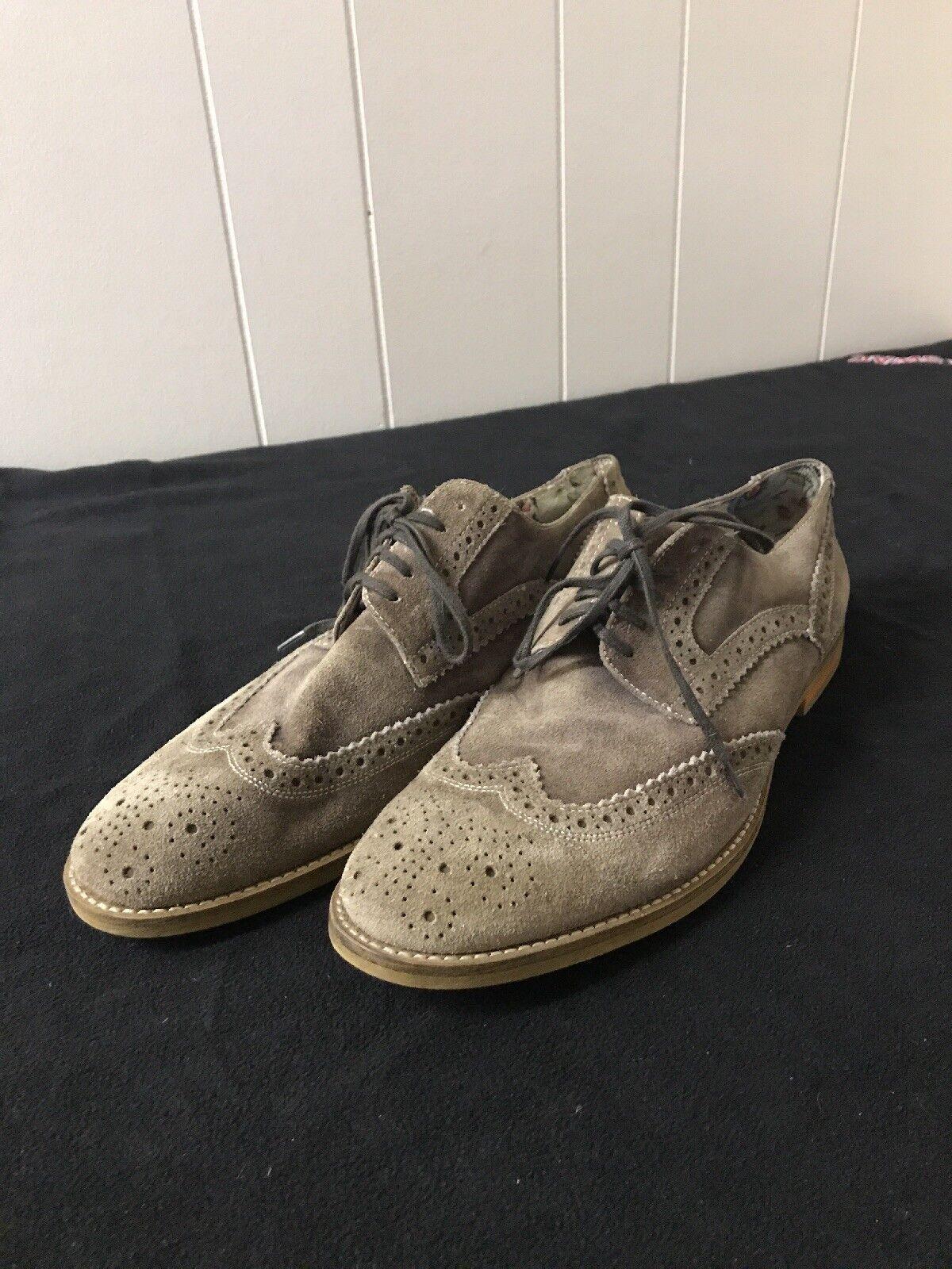 Vince Camuto Venety Brown / Tan Wingtip Suede Oxford Dress shoes uomo's Size 11.5 Scarpe classiche da uomo