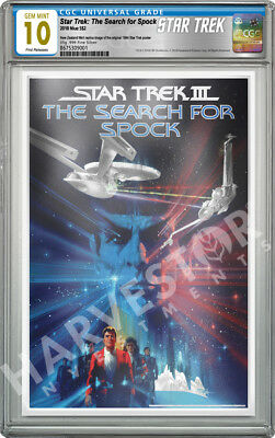THE SEARCH FOR SPOCK SILVER FOIL 2018 STAR TREK CGC 10 GEM MINT FIRST RELEASE