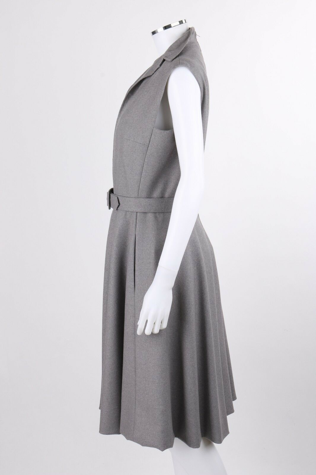 PAULINE TRIGERE c.1980's Gray Wool Extended Shoul… - image 5